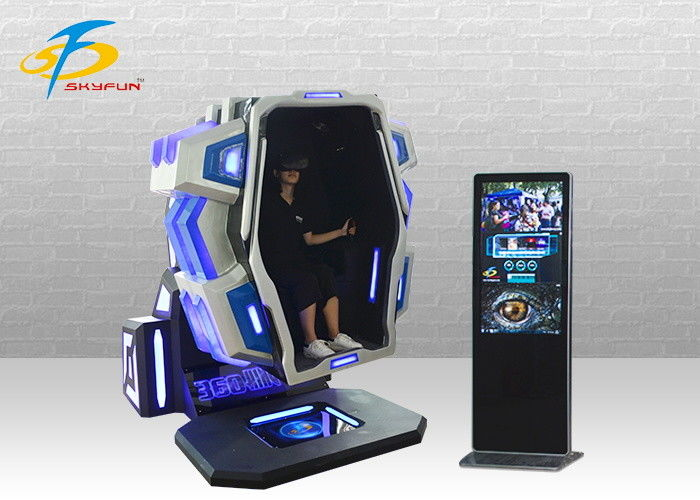 Red & Blue 360 Degree Virtual Reality Machine With 4 Games And 9 Movies